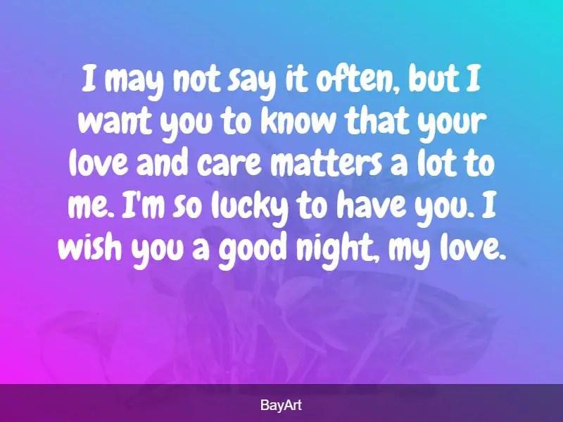 goodnight to her
