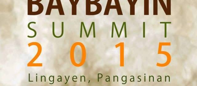 Baybayin Summit 2015