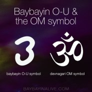 O-U baybayin and the meanings in the sanskrit symbol of Om