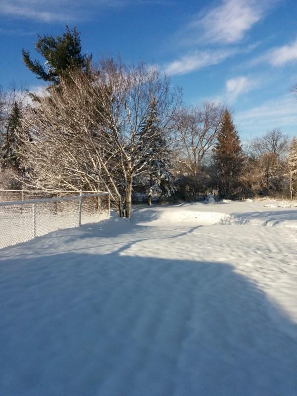 A winter wonderland - March 30th.