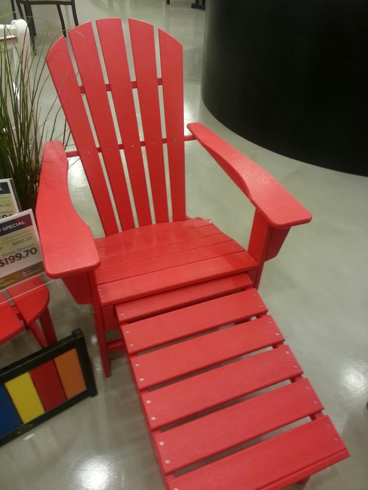 SALE on POLYWOOD Adirondack Chair with Ottoman  Bay