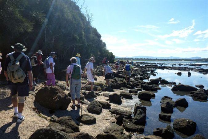 Circumnavigating Broulee Island