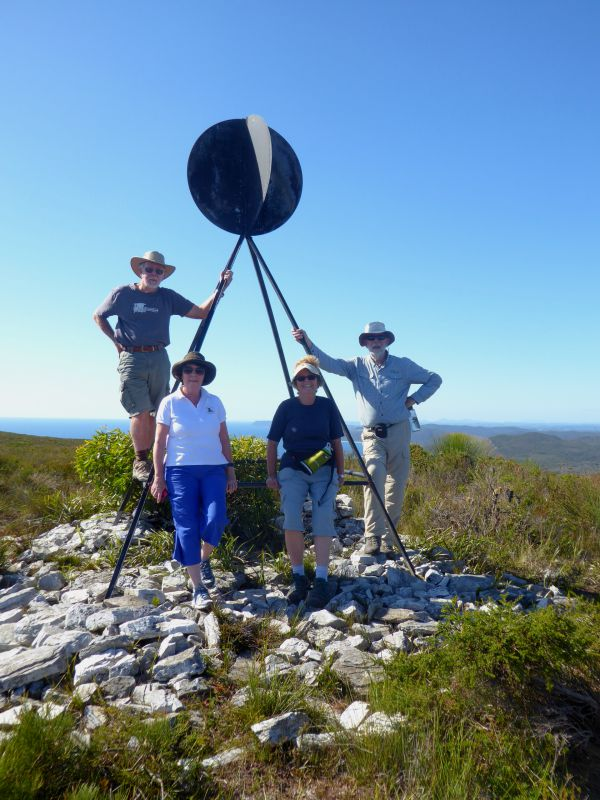 Geoff, Elizabeth, Jill and Bob on Cathedral Rock Circuit, Rocky Cape National Park near Stanley