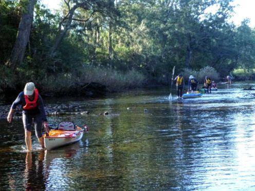 Shallow section of Currowan Creek