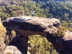 'Oh, what a feeling!' on Corang Arch