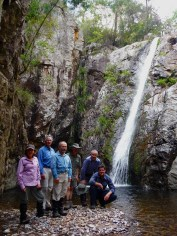 Wendy, Ian, David, Martin, Mark and Simon at Unnamed Falls