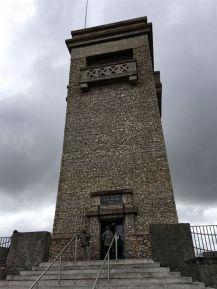 The stone tower built to commemorate fallen soldiers