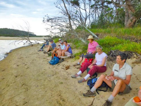 Morning tea at the mouth of Meroo Lake