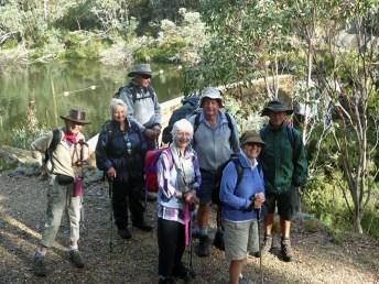 Val, Nancy, Dennis, Anna, Len, Jill and Martin at Lake Catani