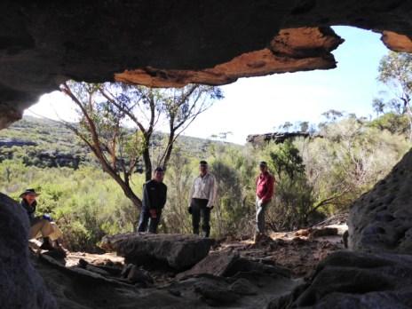 Cave near Upper Endrick Falls
