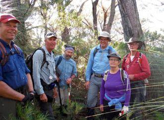 Martin, Brian, Dave, Rob, Amanda & Ian at the summit
