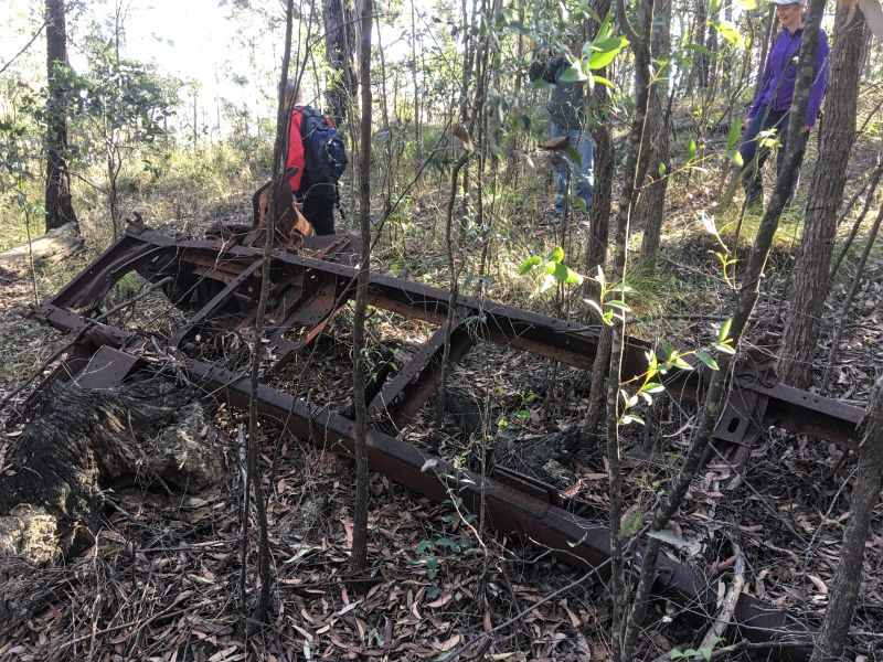 Wreck of the Blitz - some sort of timber hauling machinery