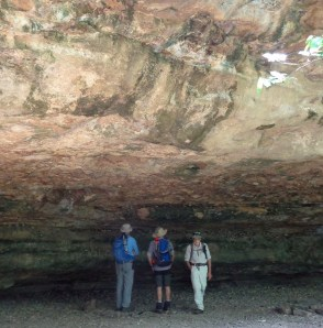 Geology lesson at the rock shelter.