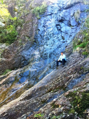 Simon at 'No Name Waterfall'.