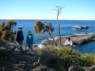 Graham, Heather and Bev overlooking Flat Rock Island.