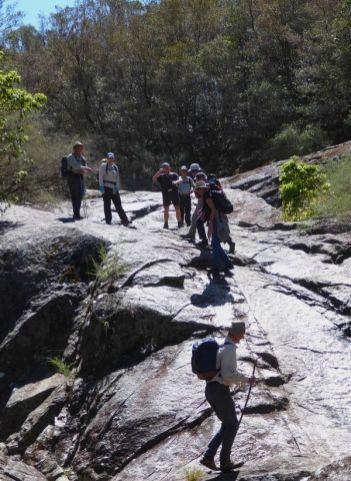 Granite bed of Spring Creek
