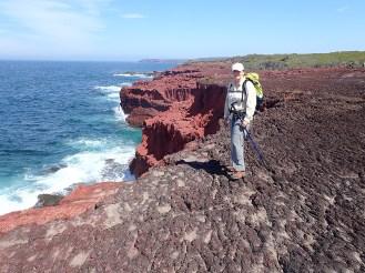 Donna on headland rocks.