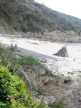 Beach 'sculptures'.