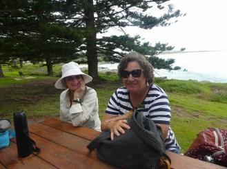 Jane and Deborah at Memorial Park.