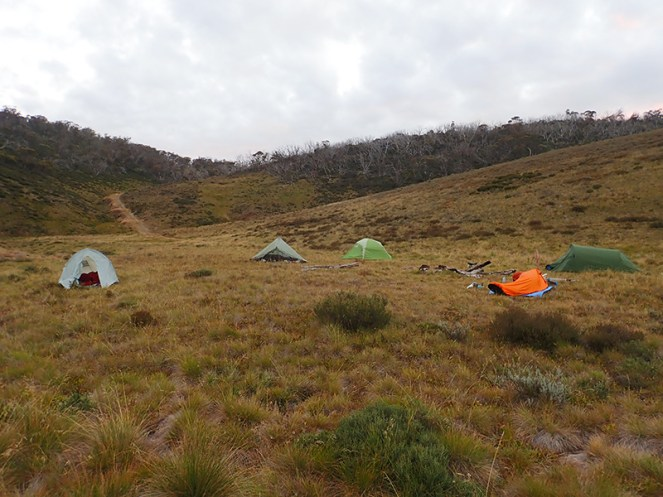 First camp, Bogong Creek.