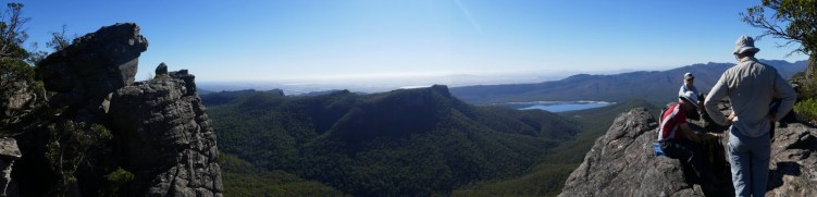 Walking in the Grampians.