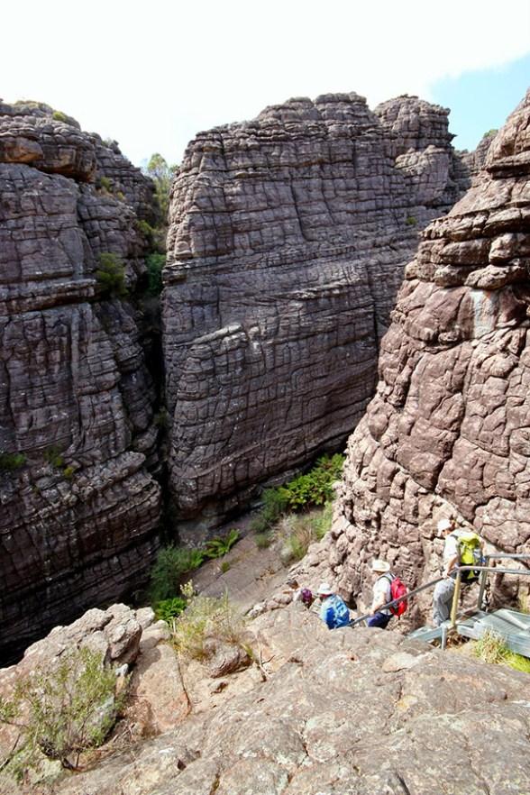 Descending through the canyons.