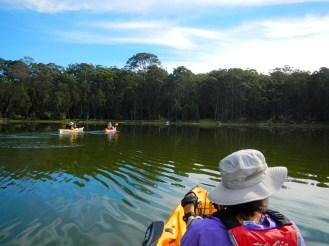 We circumnavigated the lake.