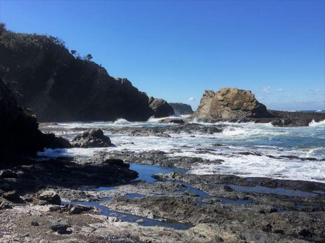 Little Oaky Beach - stony and rocky