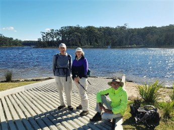 Mike, Mary and Stan at new Durras Lake boatramp