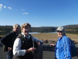 Marle, Ann & Ainslie at Deep Creek Dam