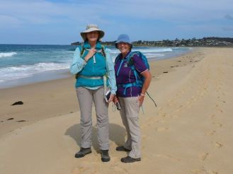 Karen and Donna on Brou Beach
