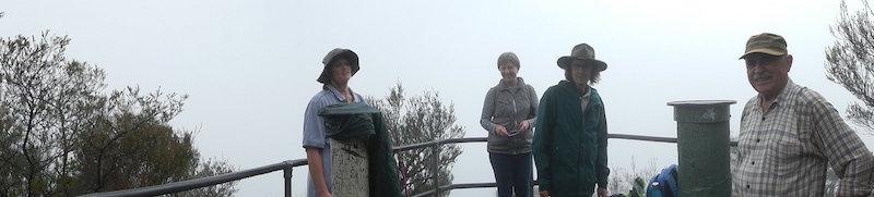Amanda, Judith, Philip and Simeon at the top