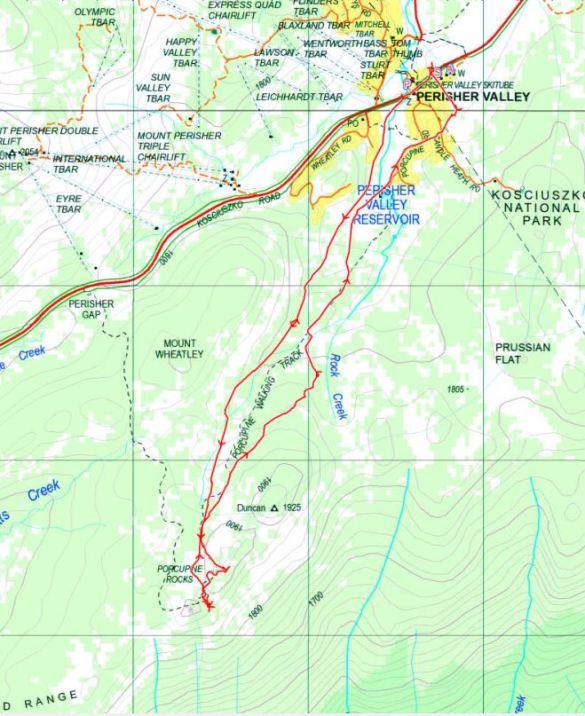Porcupine Rocks Track