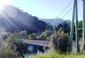 Suspension bridge out of Thomas Boyd campsite