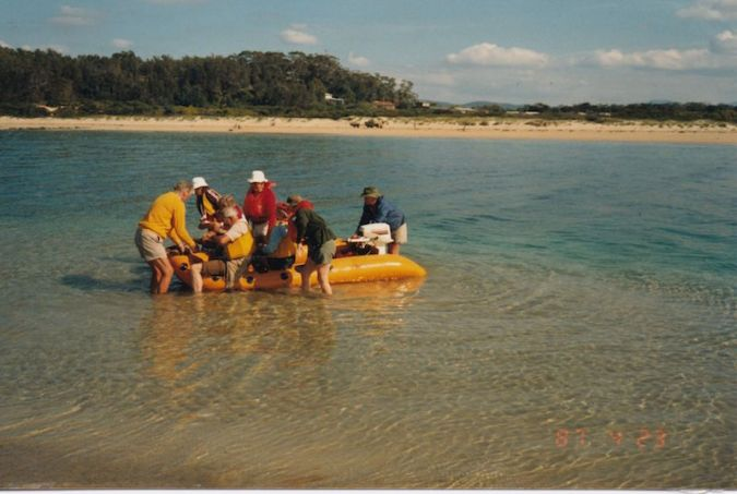 Back in 1987, when Broulee Island was an island and the only way to get there was by boat