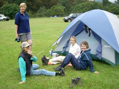 2006 Camping at Bendethera - Valerie Harris, Karen MacLatchy, Mary Taylor and Betty Richards