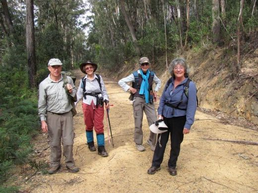 2014 with Martin, Betty and Pat on the Monga Mongarlowe Mine Ramble