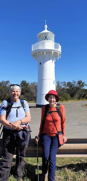 Bev and Lesley at Ulladulla Light Beacon