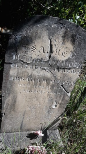 Elizabeth Maleber's grave on Broulee Island