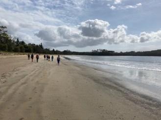 Just the batemans bay bushwalkers on the beach