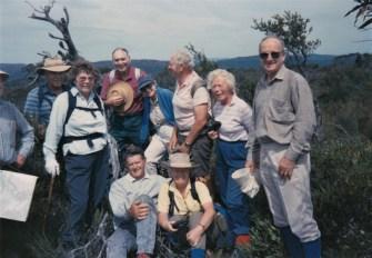 1993 Tallaganda Camp - Grant at far right, Tallaganda National Park