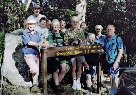 1998 Northern Safari - (l-r) Margaret, Mike, Ainslie, Meriel, Hugh, Grant, Robert, Beverley, Jan, Max
