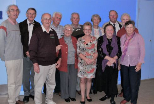 2010 past presidents – taken at 25th Anniversary (l-r) Mike, Hugh, Grant, John, Ruth, Paul, Kay, Barbara, Beverley, Len, Meriel, Ainslie