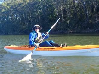 Jane enjoying the paddle