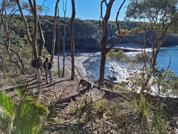 Views of Dark Beach, end point of Sydney sandstone
