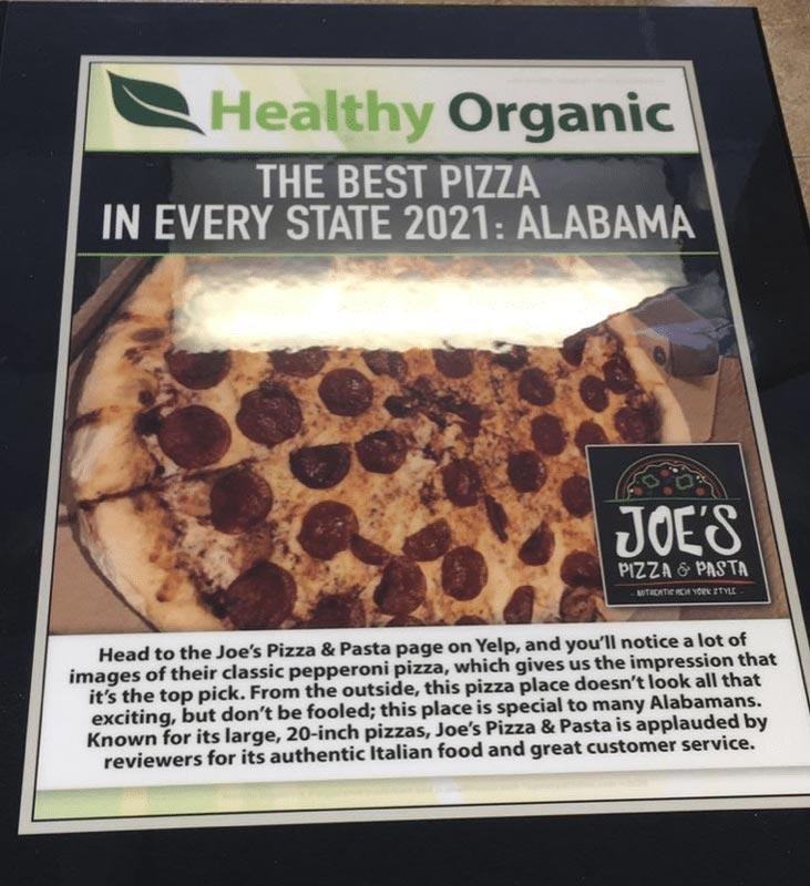 Joe's In Mobile Named Best Pizza In State