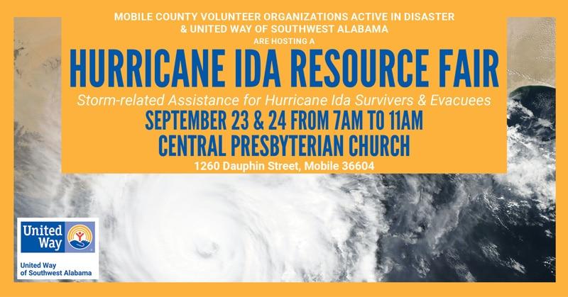 Hurricane Ida Resource Fair Coming Up