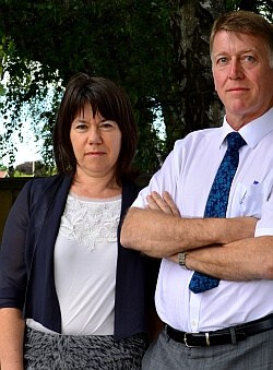 """DHB's Dr Caroline McElnay, director of population health, and chief executive Dr Kevin Snee """"We can't do it all by ourselves""""."""