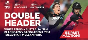 BLACKCAPS & WHITE FERNS T20 International doubleheader