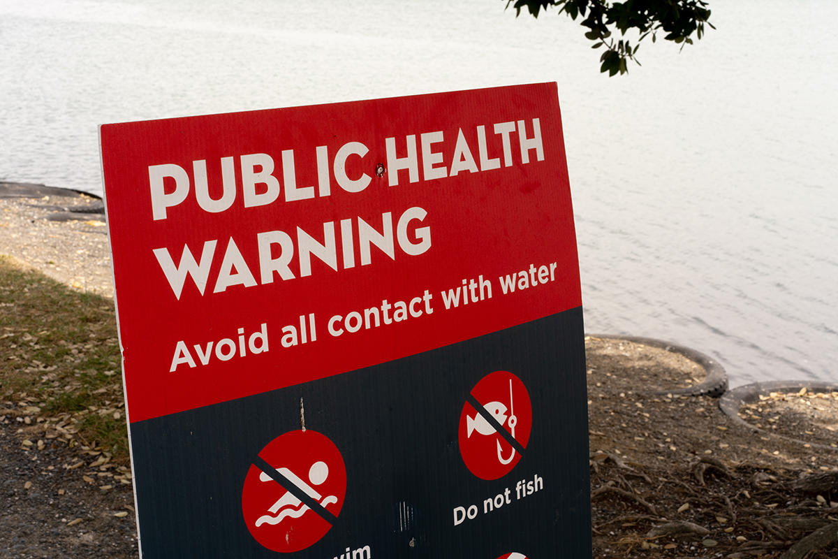 Marine Water Contamination Photo: Tom Allan